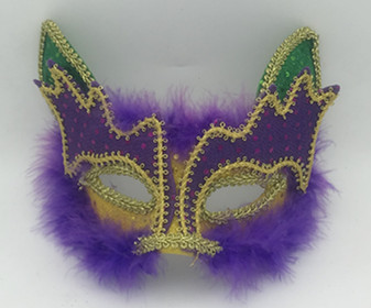 Mardi Gras Masks Cat Feather Masks