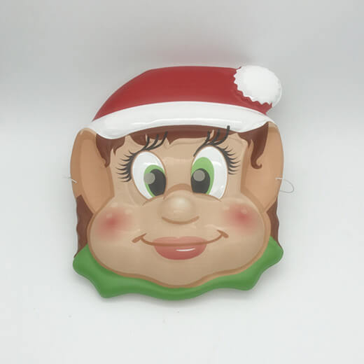 Christmas Party Supplies Girl and Boy Elf Party Mask