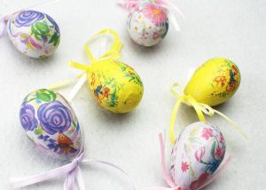 Plastic Easter Eggs Assortment for Easter Celebration and Supplies