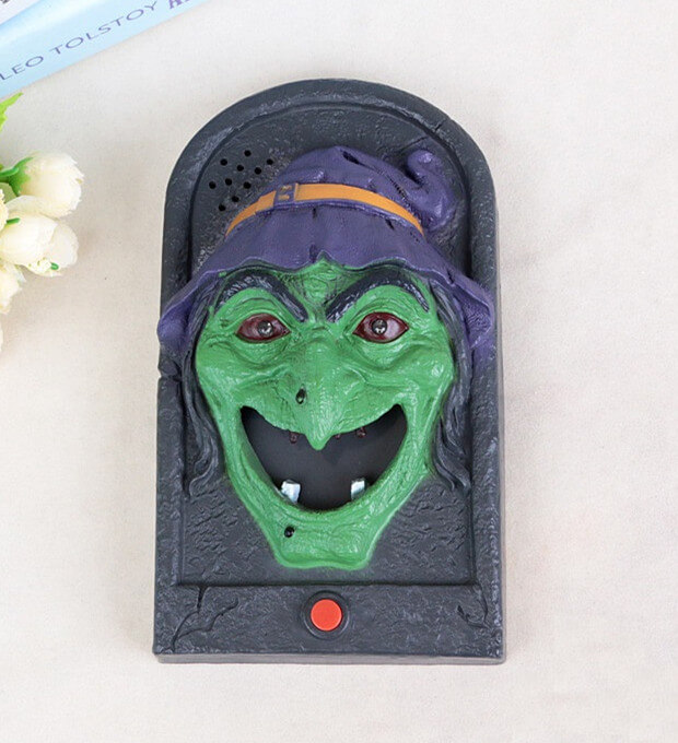 Skull Witch Doorbell