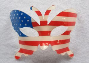 Patriotic Butterfly Mask
