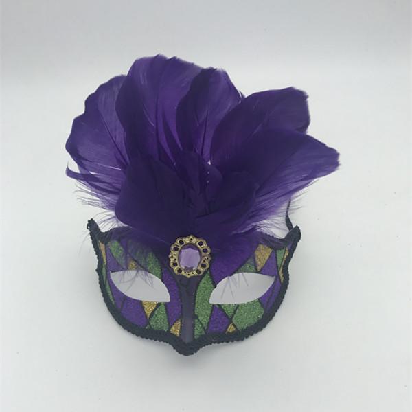 Mardi Gras Green Purple Gold PGG Masks Carnival Masks