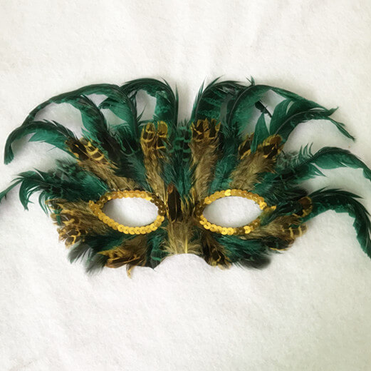 Assorted Mardi Gras Feather Masks