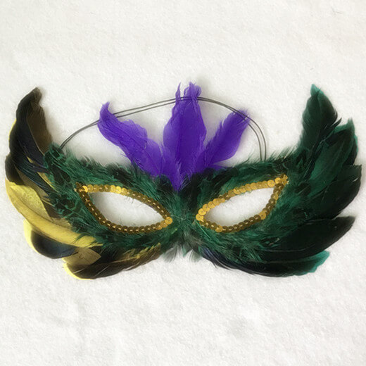 4 Assorted Feather Mardi Gras Masks Masquerade Themed Party Supplies