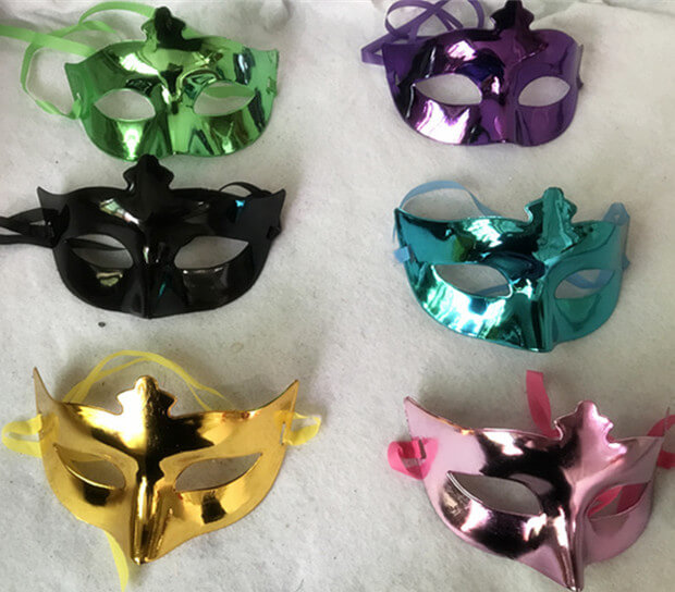 Plastic Crown Eye Mask Shinny Eyemask For Happy New Year Party