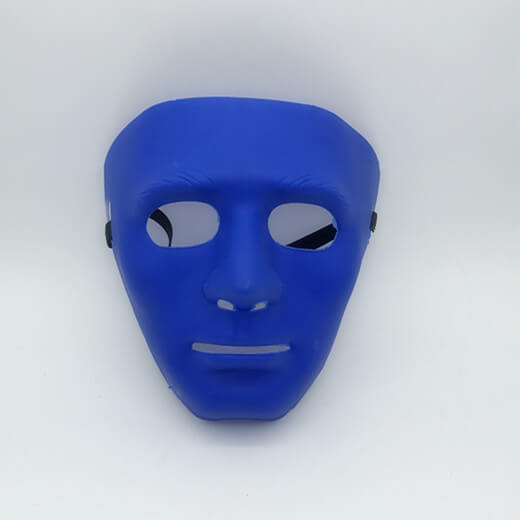 Blue Blank Face Mask