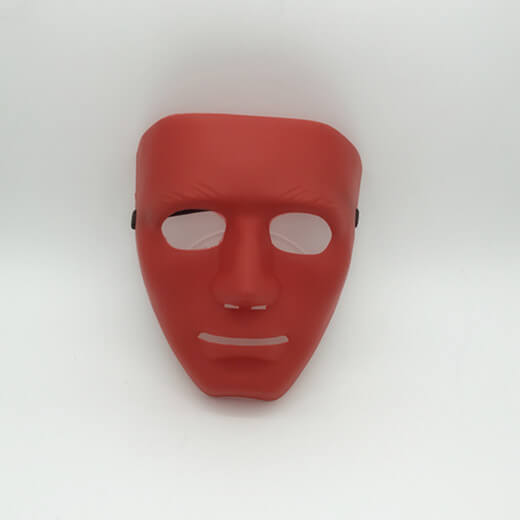Red Blank Face Mask