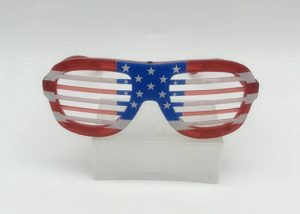 USA National Holiday Window Blinds Glasses