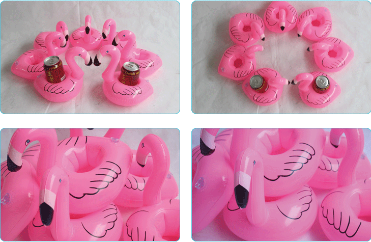 Child Inflatable Toy Flamingo  Drink Cup Holder