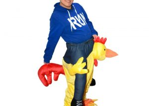 Carry Me Costumes Chicken Plush Tricky Mascot Costumes