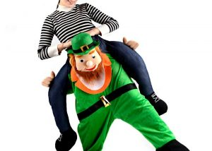 Carry Me Leprechaun Piggy Back St Patricks Day Mascot Costume