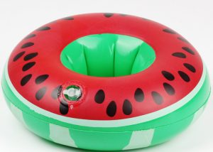 Inflatable Fruit Cup Holder Watermelon Summer Beverage Cup Holder
