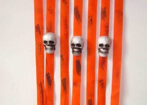 Halloween Door Deco Scary Skull Door Curtains Halloween Party