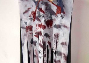Halloween Door Curtains Deco Skull Curtain with Blood