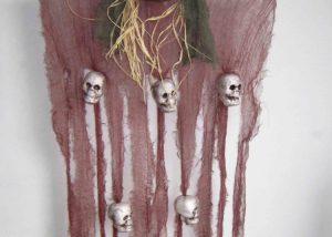 Door Curtains Halloween Skull with Foam Skull Halloween Supplies