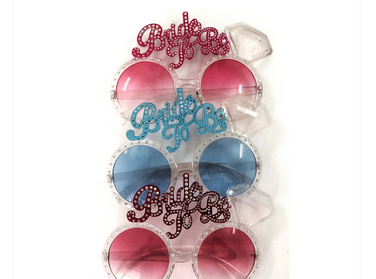 Bachelor Party Glasses Blue and Pink Eye Crystal Glasses Wedding Glasses