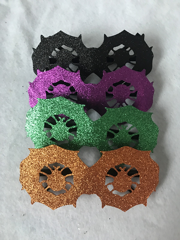 Halloween Glitter Glasses Purple Black Green Pumpkin Spider Eyeglasses