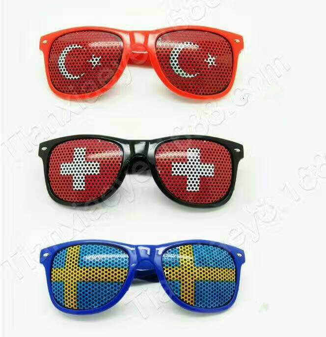 Patriotic Eye Glasses Turkey Switzerland Sweden Countries Glasses