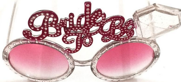 Bachelor Party Glasses Blue and Pink Eye Glasses Wedding Glasses
