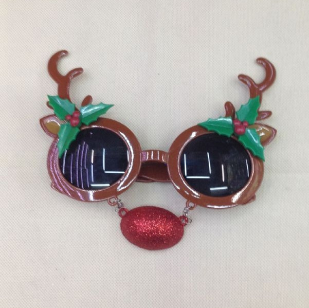 Xmas Party Glasses Suplies Reindeer Eye Glasses