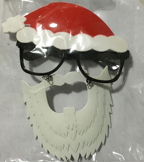 Christmas santa eye glasses with beards santa glasses for Santa glasses for crafts
