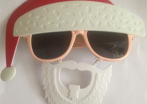Christmas Santa Eye Glasses With Beards Santa Glasses