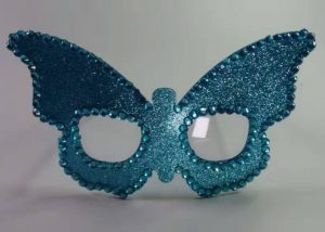 Blue Butterfly Eye Glasses Mask Christmas Party Glasses