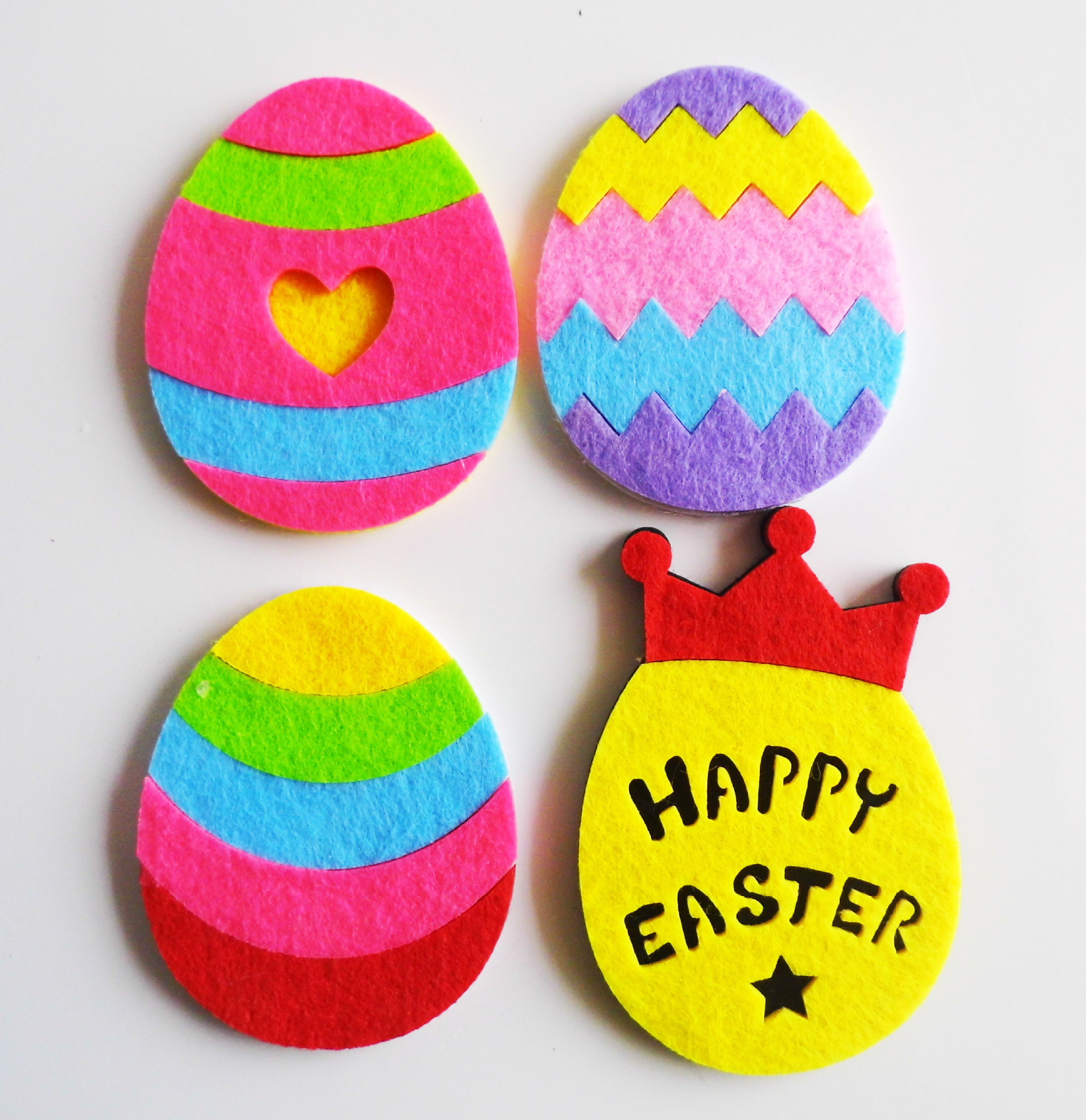 Happy Easter Day with Crown Easter Wall Home Deco Easter Party Favor