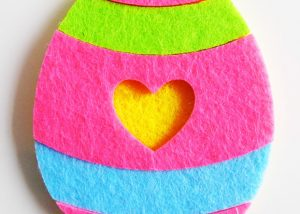 Colorful Soft Woven Easter Egg Wall Ornament Easter Supplies