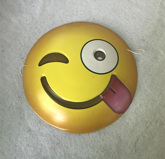 Emoji Mask-smiley tongue sticking out winking eye