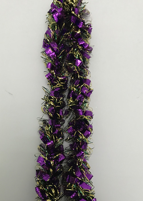 Mardi Gras Door Garlands Metallic Loop Tinsel Garland Purple/Gold