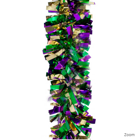 Mardi Gras Ball Garland PGG Festooning Garland 4in x 15ft