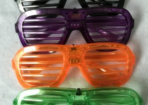 Halloween Light Up Glasses Green Purple Black Orange Window Shades