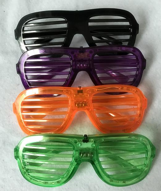 Halloween Light Up Glasses Green Purple Black Orange Window Shades