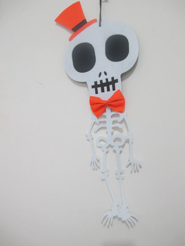 Halloween Home Outdoor Decoration Non Woven Walking Skull