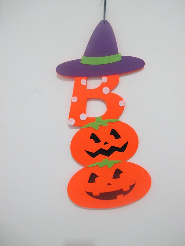 Halloween Wall Home Door Decoration Non Woven Pumpkin