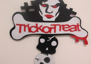 Halloween Home Decoration Non Woven Trick or Treat Holloween Words