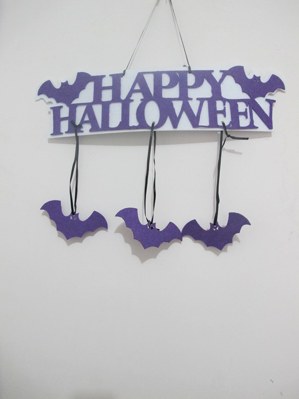 Halloween Home Decoration Non Woven Happy Holloween Words