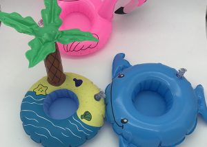 Child Inflatable Toy Flamingo Coconut Tree Drink Cup Holder