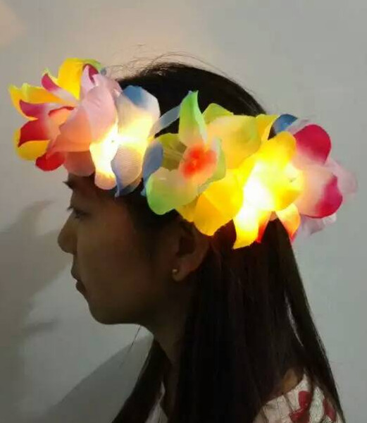 Hawaiin Leis Party LED Lighting Lei Luau Party Decorations Summer Supplies