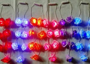 Hawaii Leis Party Leis Flowers LED Ligthing Up Luau Party Decorations