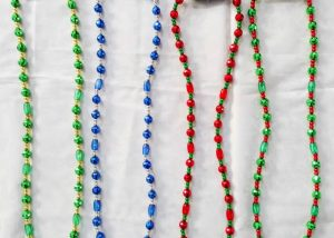Flashing Light Up LED Bead Necklaces Lighting Party Blue Red Green Beads