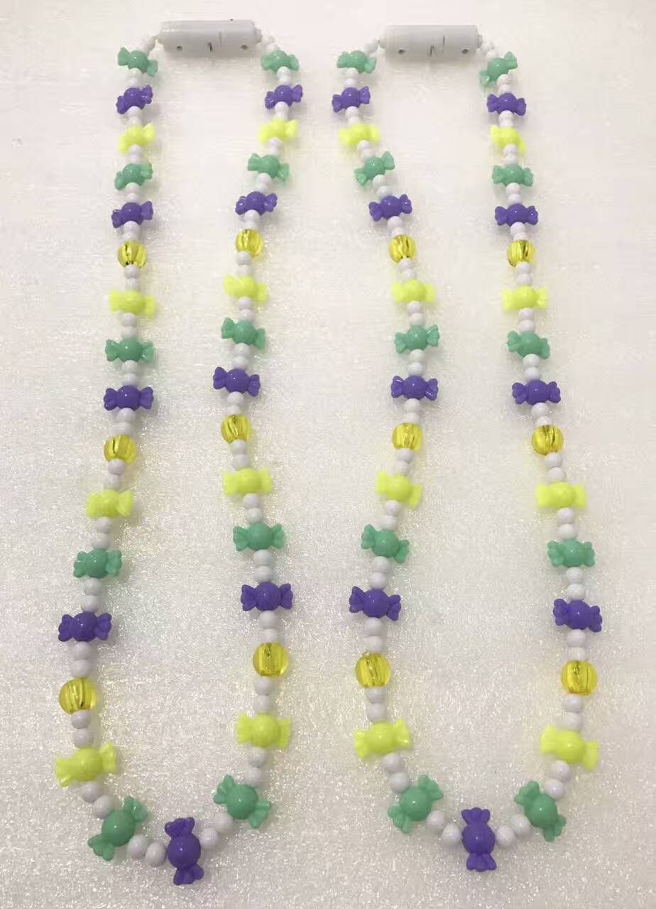 Buy Mardi Gras LED Light Up Beads Necklaces Party Lighting Deco