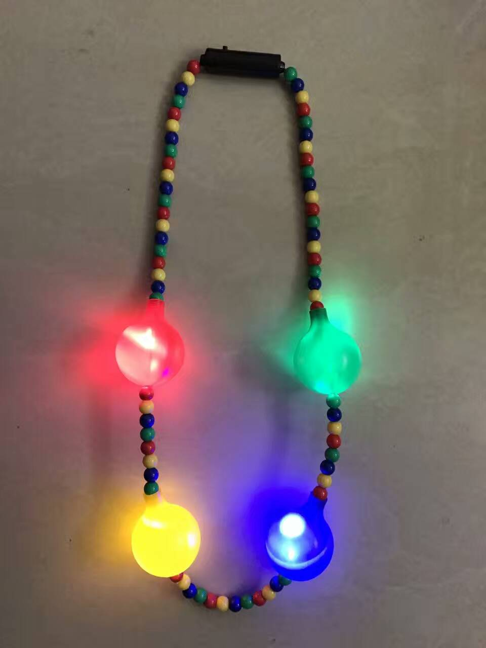 Happy Birthday Party Flashing Light Up LED Bead Necklaces