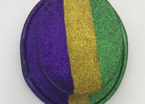 Multi-style PGG Stripe Mardi Gras Glitter Hats Plastic Glitter Party Hats