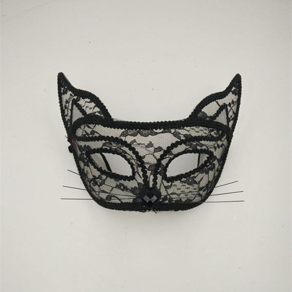 Adult Women Sexy Cat Eye Lace Mask