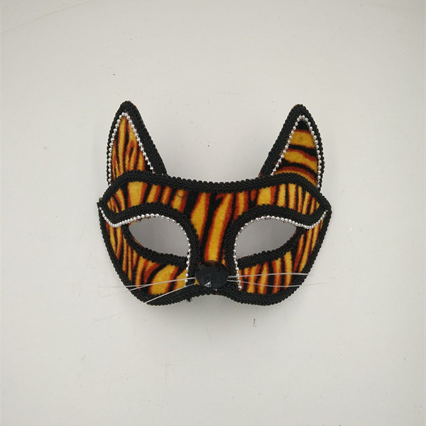 Halloween Mask Stripe Orange Cat Eye Mask