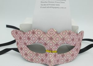 Valentine's Day Party Mask Pink Mask W Printing Flowers