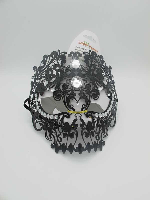 Teschio Black Masquerade Masks for Venetian Masquerade