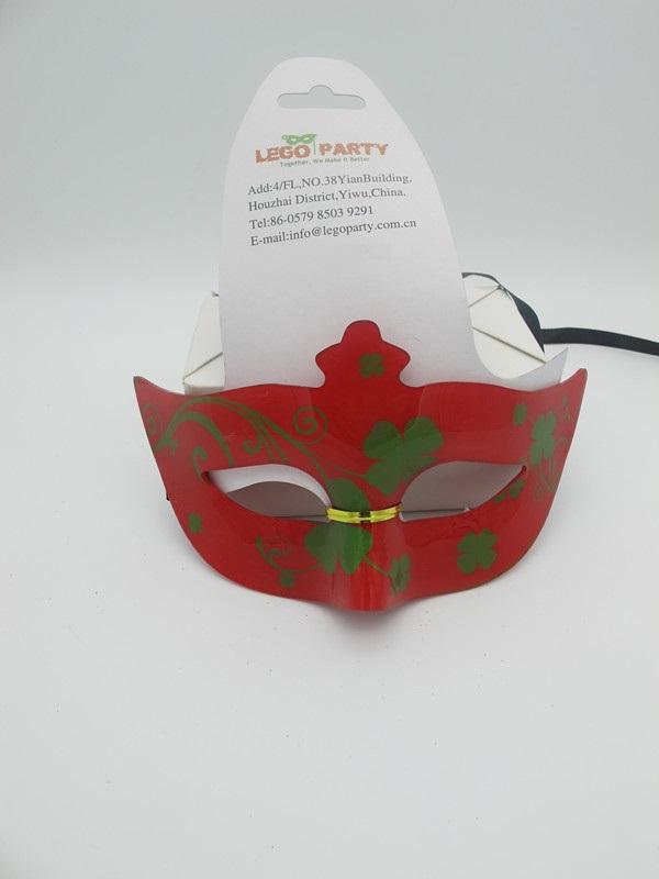 St. Patrick Day Party Masks Red Acylic Shamrock Mask